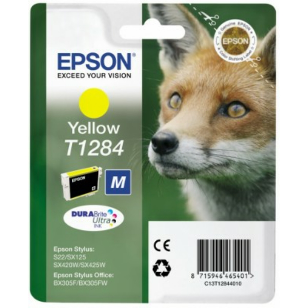 Original Epson C13T12844022 / T1284 Ink cartridge yellow