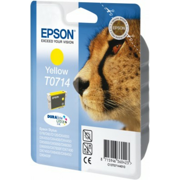 Original Epson C13T07144012 / T0714 Ink cartridge yellow