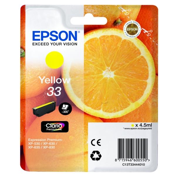 Original Epson C13T33444012 / 33 Ink cartridge yellow