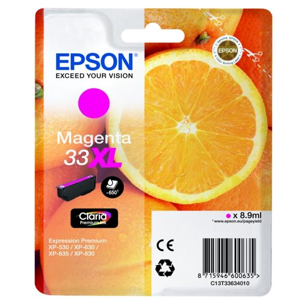 Original Epson C13T33634012 / 33XL Ink cartridge magenta