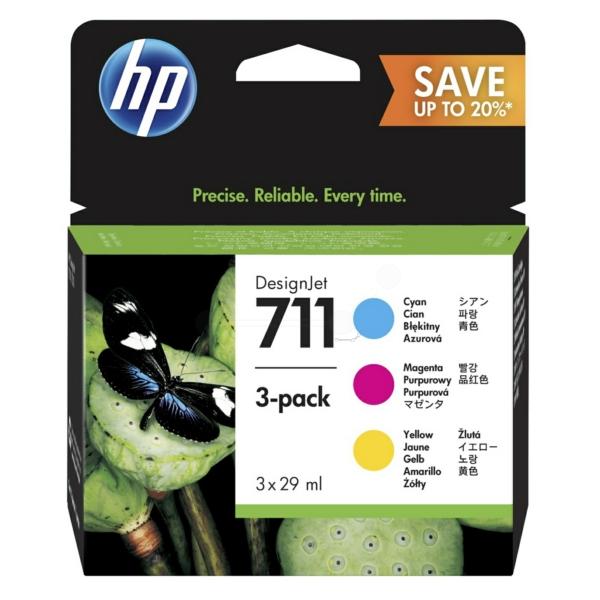 Original HP P2V32A / 711 Tintenpatrone MultiPack
