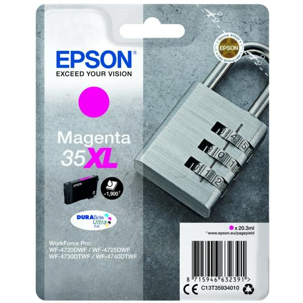 Original Epson C13T35934010 / 35XL Tintenpatrone magenta
