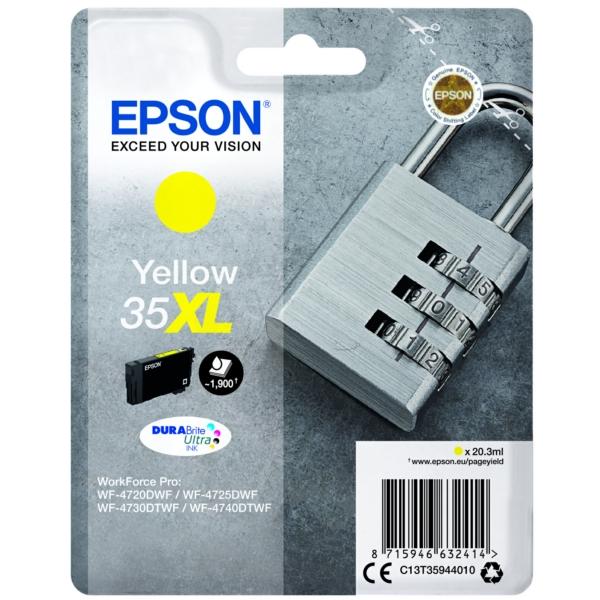 Original Epson C13T35944010 / 35XL Tintenpatrone gelb