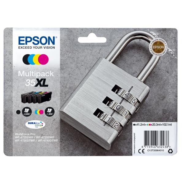 Original Epson C13T35964010 / 35XL Tintenpatrone MultiPack