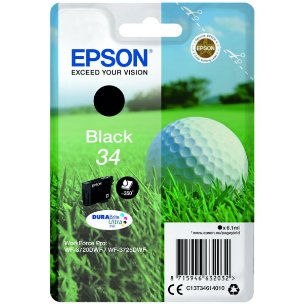 Original Epson C13T34614010 / 34 Tintenpatrone schwarz