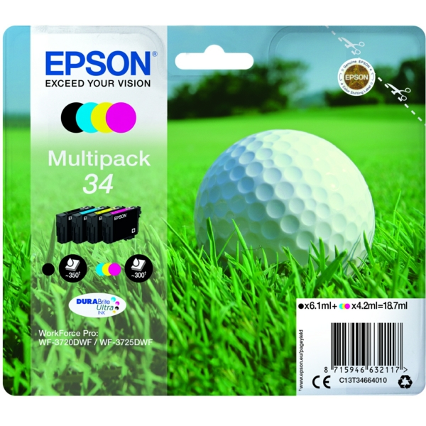 Original Epson C13T34664010 / 34 Tintenpatrone MultiPack