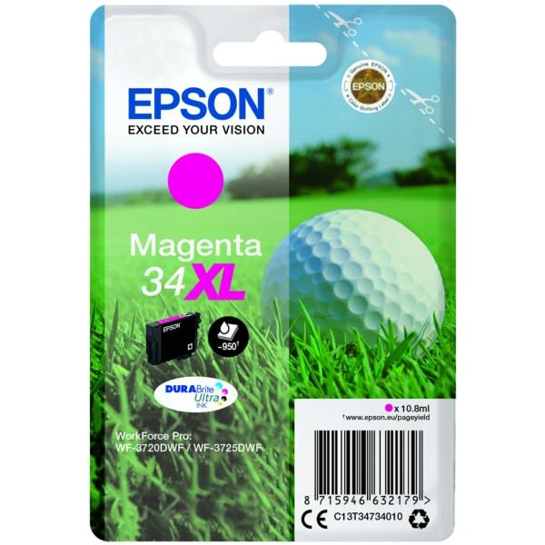 Original Epson C13T34734010 / 34XL Tintenpatrone magenta