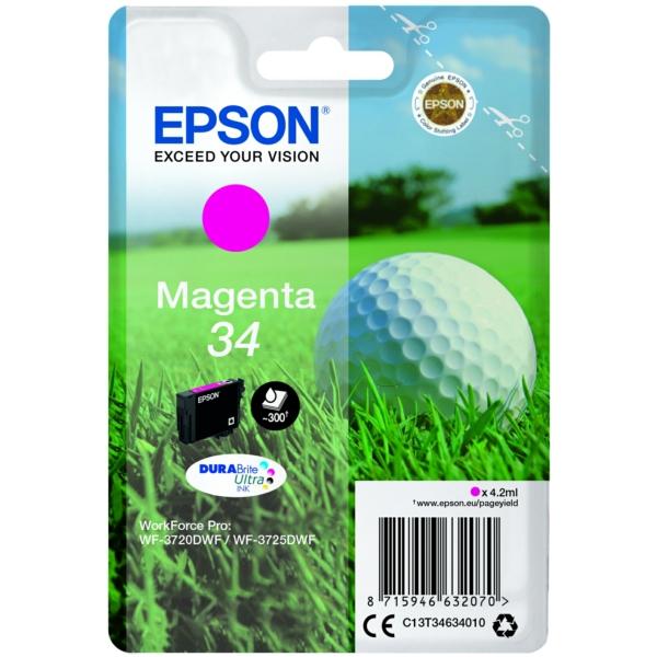 Original Epson C13T34634020 / 34 Tintenpatrone magenta