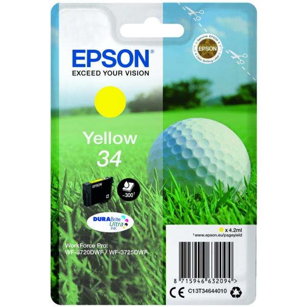 Original Epson C13T34644020 / 34 Tintenpatrone gelb