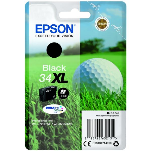 Original Epson C13T34714020 / 34XL Tintenpatrone schwarz