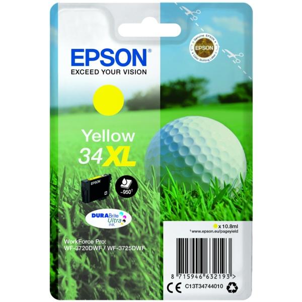 Original Epson C13T34744020 / 34XL Tintenpatrone gelb