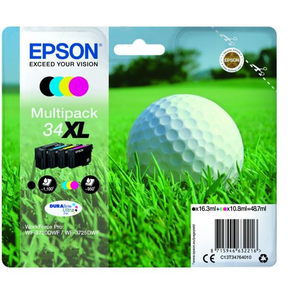 Original Epson C13T34764020 / 34XL Tintenpatrone MultiPack