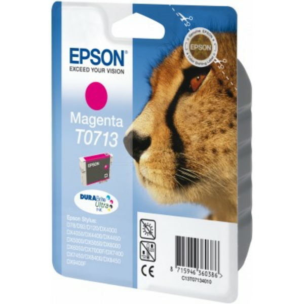 Original Epson C13T07134012 / T0713 Ink cartridge magenta