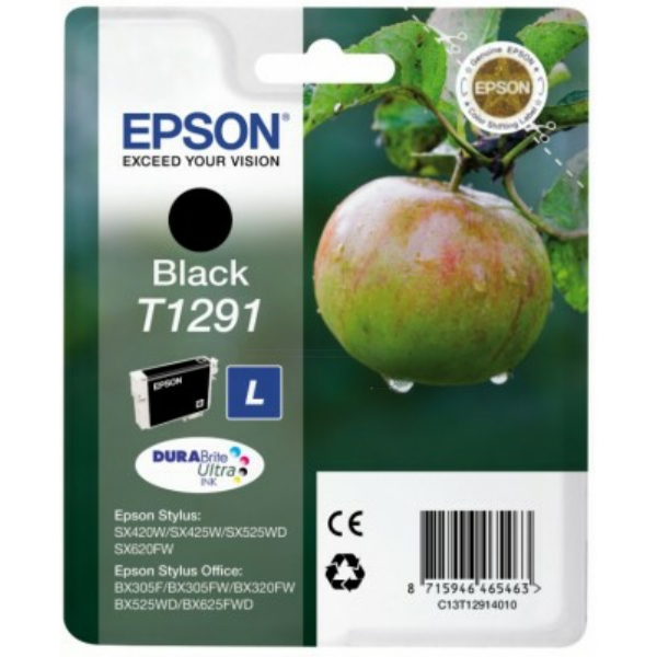 Original Epson C13T12914012 / T1291 Ink cartridge black