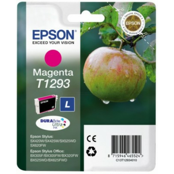 Original Epson C13T12934012 / T1293 Ink cartridge magenta