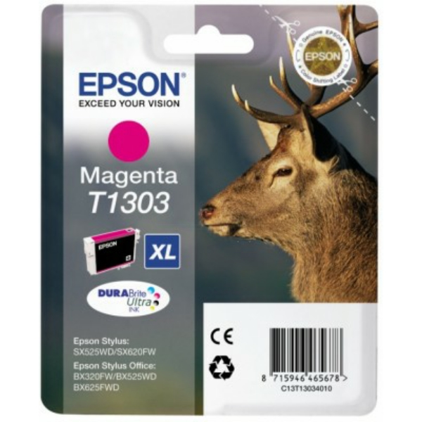 Original Epson C13T13034012 / T1303 Ink cartridge magenta