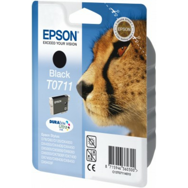 Original Epson C13T07114022 / T0711 Ink cartridge black