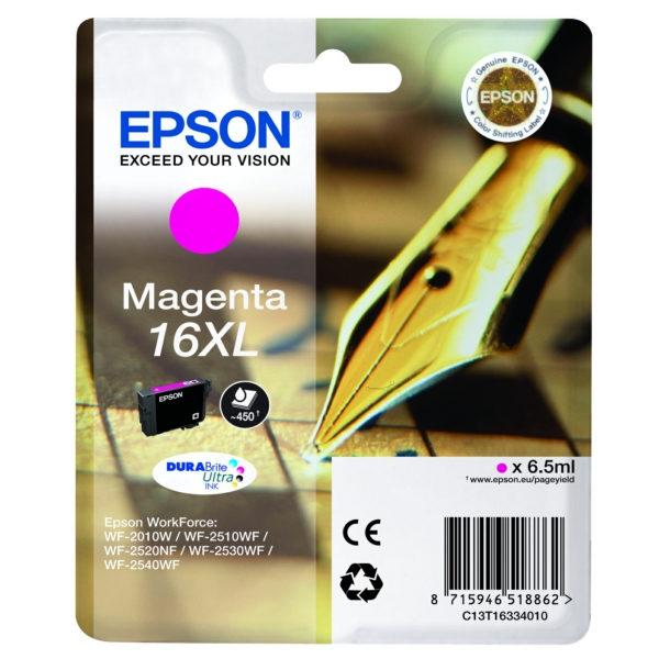 Original Epson C13T16334012 / 16XL Ink cartridge magenta