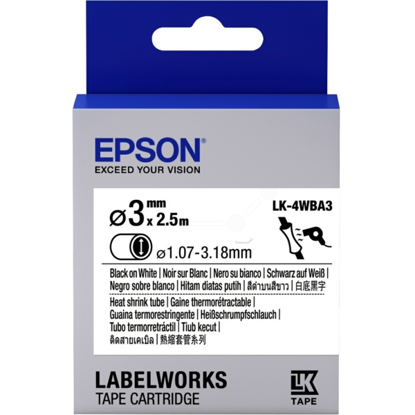 Original Epson C53S654903 / LK4WBA3 Prägeband