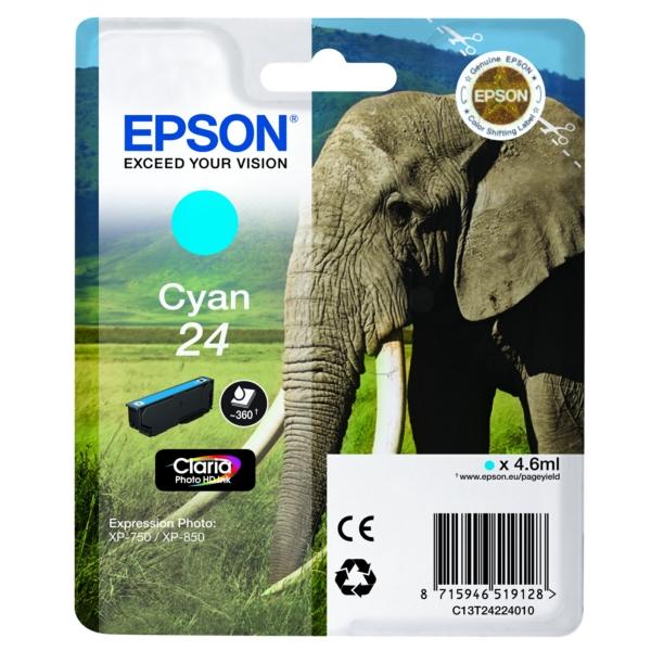 Original Epson C13T24224012 / 24 Tintenpatrone cyan