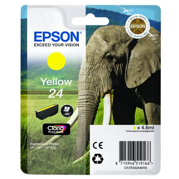Original Epson C13T24244012 / 24 Tintenpatrone gelb