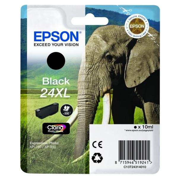 Original Epson C13T24314012 / 24XL Tintenpatrone schwarz