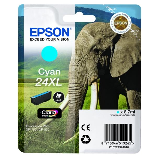 Original Epson C13T24324012 / 24XL Tintenpatrone cyan