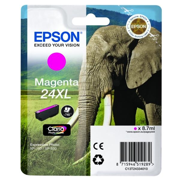 Original Epson C13T24334012 / 24XL Tintenpatrone magenta