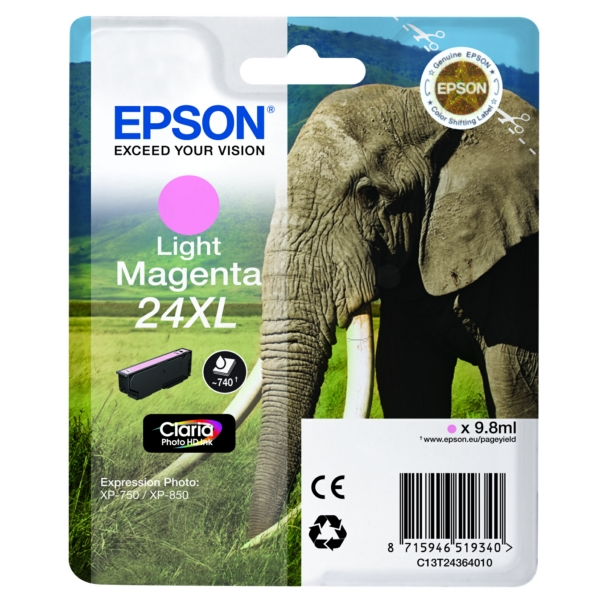 Original Epson C13T24364012 / 24XL Tintenpatrone magenta hell