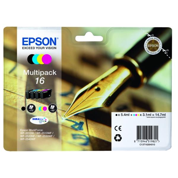 Original Epson C13T16264022 / 16 Tintenpatrone MultiPack
