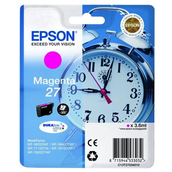 Original Epson C13T27034022 / 27 Ink cartridge magenta