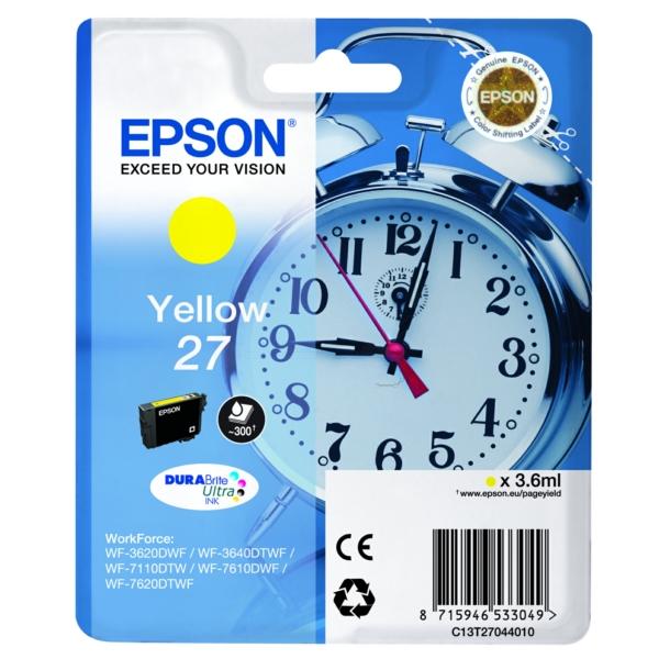 Original Epson C13T27044022 / 27 Tintenpatrone gelb