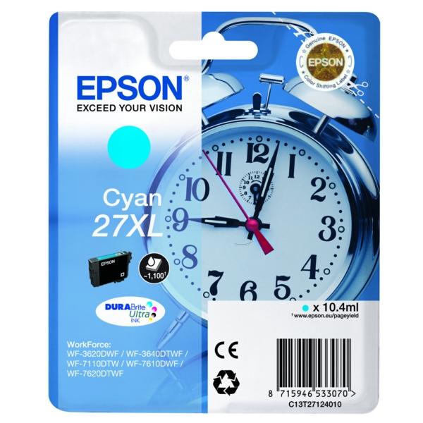 Original Epson C13T27124022 / 27XL Tintenpatrone cyan