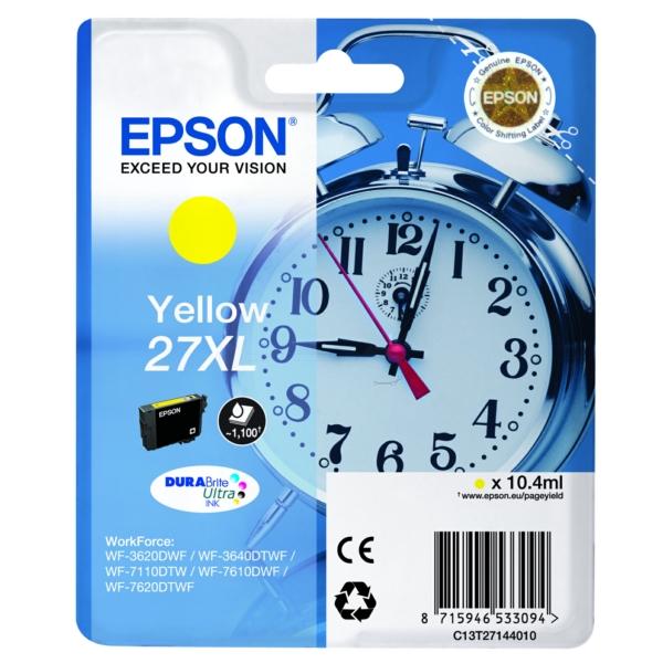 Original Epson C13T27144022 / 27XL Tintenpatrone gelb