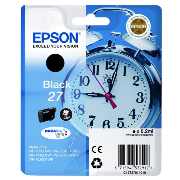 Original Epson C13T27014012 / 27 Tintenpatrone schwarz