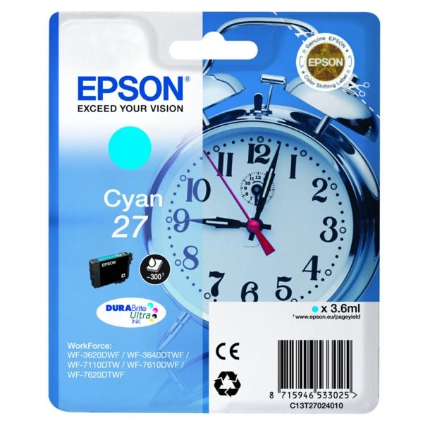 Original Epson C13T27024012 / 27 Tintenpatrone cyan