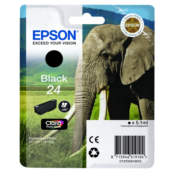 Original Epson C13T24214022 / 24 Tintenpatrone schwarz