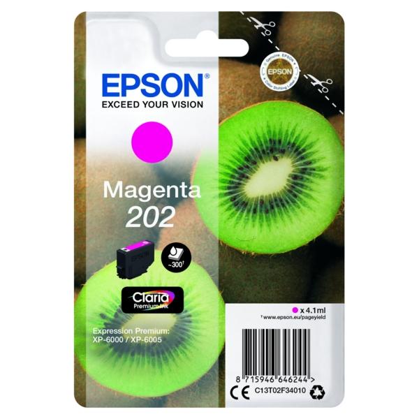 Original Epson C13T02F34010 / 202 Tintenpatrone magenta
