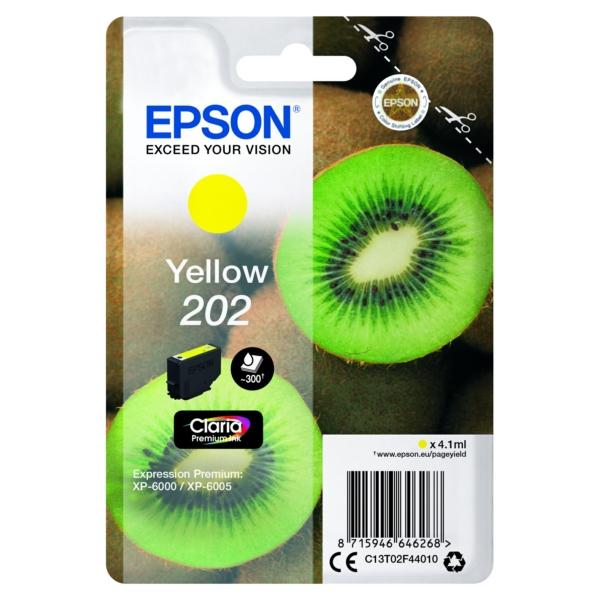 Original Epson C13T02F44010 / 202 Tintenpatrone gelb