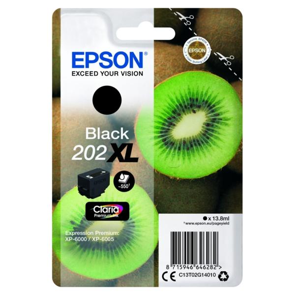 Original Epson C13T02G14010 / 202XL Tintenpatrone schwarz