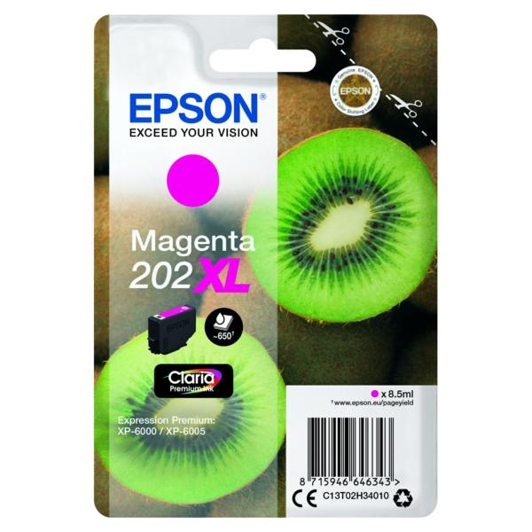 Original Epson C13T02H34010 / 202XL Tintenpatrone magenta