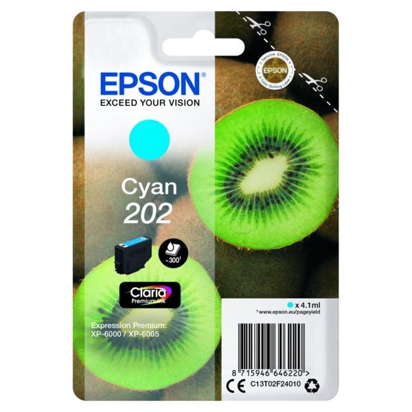 Original Epson C13T02F24010 / 202 Tintenpatrone cyan