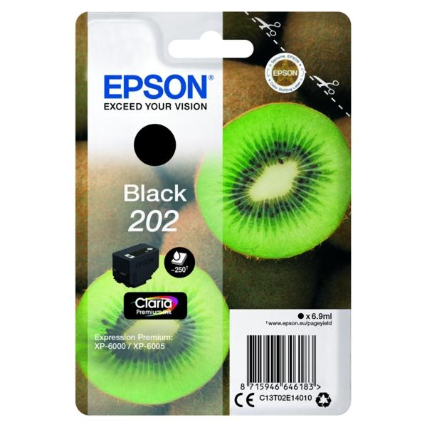 Original Epson C13T02E14020 / 202 Tintenpatrone schwarz