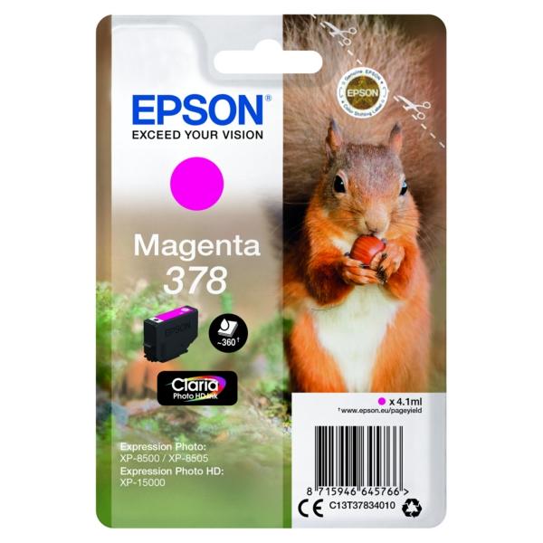 Original Epson C13T37834020 / 378 Tintenpatrone magenta