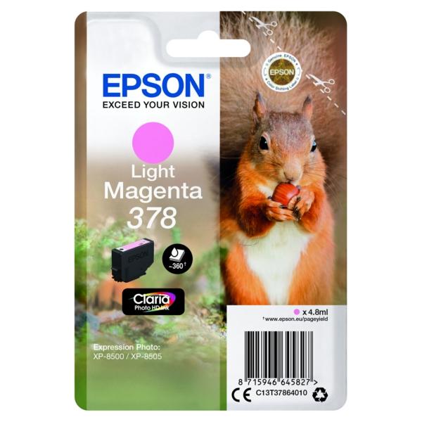 Original Epson C13T37864020 / 378 Tintenpatrone magenta hell