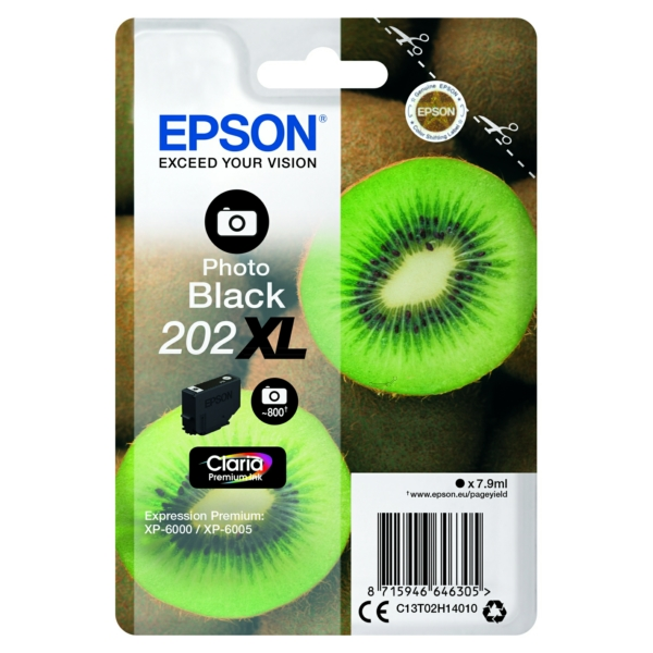 Original Epson C13T02H14020 / 202XL Tintenpatrone schwarz hell
