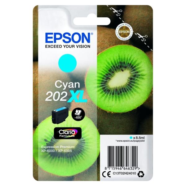 Original Epson C13T02H24020 / 202XL Tintenpatrone cyan
