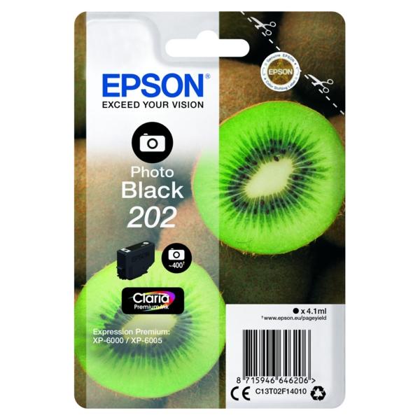 Original Epson C13T02F14010 / 202 Tintenpatrone schwarz hell