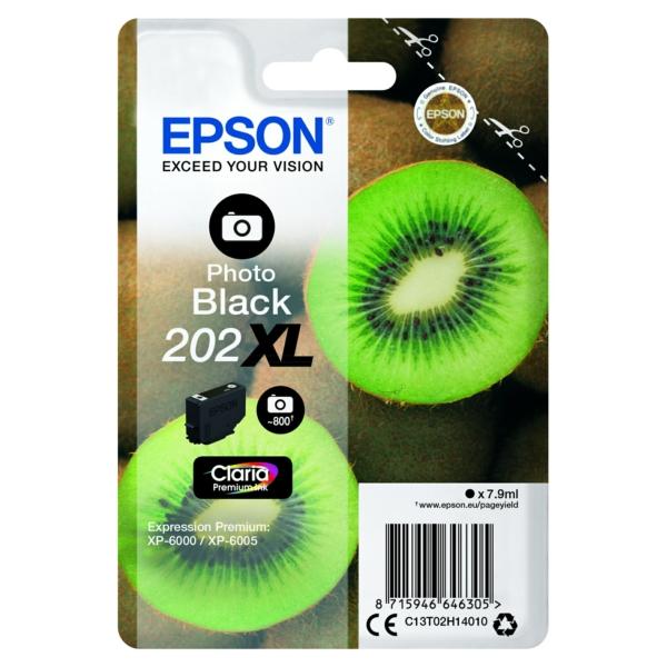 Original Epson C13T02H14010 / 202XL Tintenpatrone schwarz hell