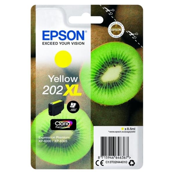 Original Epson C13T02H44010 / 202XL Tintenpatrone gelb